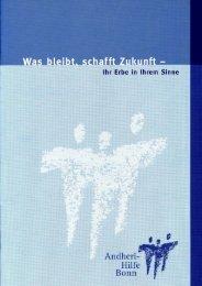 Informationsblatt bzgl. testamentarischen ... - Andheri-Hilfe Bonn