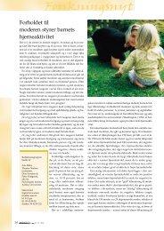 Forholdet til moderen styrer barnets hjerneaktivitet - Elbo