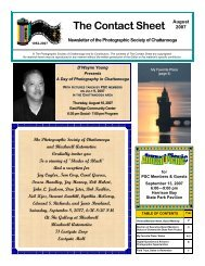 August 2007 - Photographic Society of Chattanooga