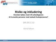 Hovedpunktene i AFI-rapport 11/2012 ved seniorforsker Eivind ... - Difi