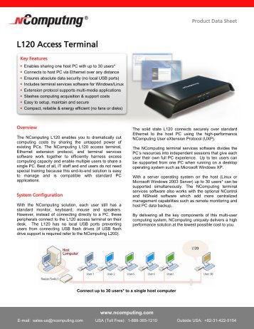 L120 Access Terminal - Sphinx Computer