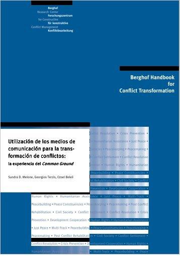 la experiencia del Common Ground - Berghof Handbook for Conflict ...