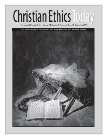 Issue 072 PDF Version - Christian Ethics Today