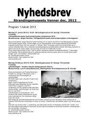 Strandingsmuseets Venner dec. 2012 - StrandingsMuseum St. George