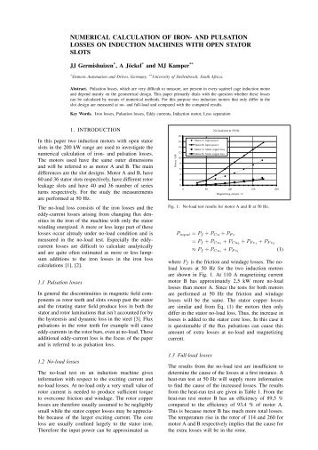 NUMERICAL CALCULATION OF IRON- AND PULSATION LOSSES ...