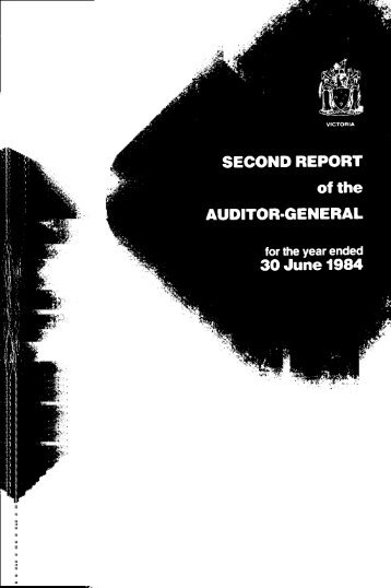 Second Report of the Auditor-General for the year ended 30 June ...