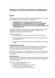 Drejebog til udvikling af attraktive arbejdspladser - Personaleweb