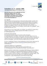 Nyhedsbrev nr. 9 - oktober 2009 - Nationalpark Sydfyn