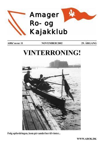 vinterroning i inrigger - Amager Ro- og Kajakklub
