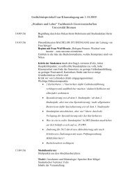 Gedächtnisprotokoll zur Klausurtagung am 1.10.2009 - StugA ...