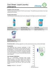 Fact Sheet: Liquid Laundry Detergents - Climatop