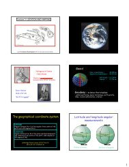 Geoid The geographical coordinate system Latitude and longitude ...