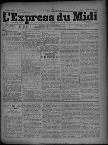 26 novembre 1891 - Bibliothèque de Toulouse