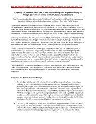 Kaspersky Lab Identifies 'MiniDuke', a New Malicious Program ...