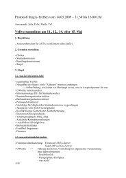 Protokoll StugA-Treffen vom 14.03.2009 – 11.30 bis 16.00 Uhr ...