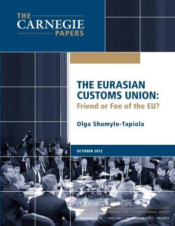 ThE EuRasian CusTOms uniOn: - European Parliament - Europa