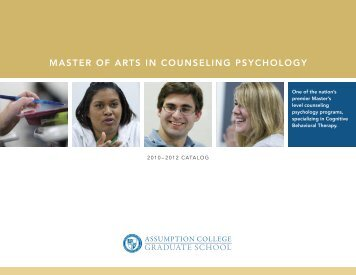 Master of arts in Counseling PsyChology - graduate studies at ...