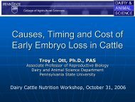 Causes, Timing and Cost of Early Embryo Loss in Cattle