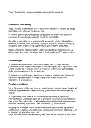 Vega Pictures Aps - uddannelsesplan for journalistpraktikanter ...