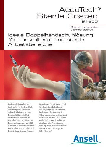 Accutech® Sterile Coated® - Ansell Healthcare Europe