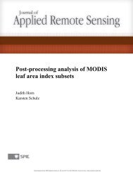 Post-processing analysis of MODIS leaf area index subsets