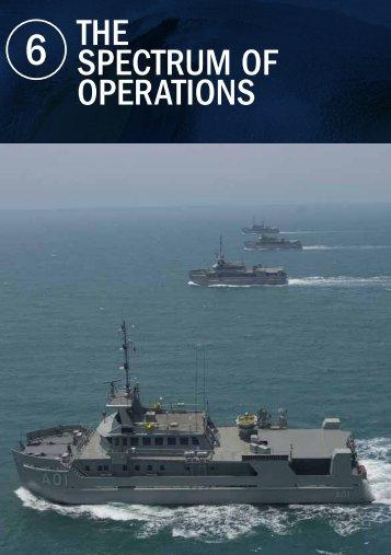 THE SPECTRUM OF OPERATIONS - Royal Australian Navy
