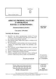 ARKUSZ PRÓBNEJ MATURY Z OPERONEM FIZYKA I ... - Gazeta.pl