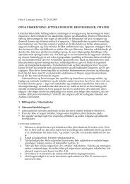 litteraturliste, henvisninger - For Studerende - Aarhus Universitet
