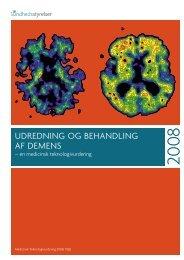 Udredning og behandling af demens - Sundhedsstyrelsen