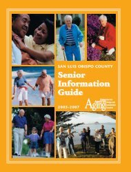 Senior Information Guide Senior Information Guide - Central Coast ...