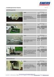 Ausstattungsvarianten Pavillons - Ewers Karosserie