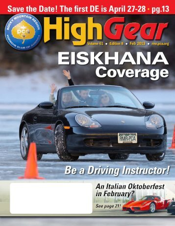 February 2013 - Rocky Mountain Region Porsche Club - Porsche ...
