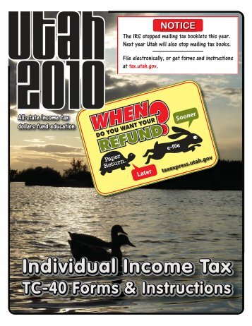 2010 TC-40 Utah Income Tax Instructions - eSmart Tax