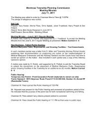Montrose Township Planning Commission Meeting Minutes July 11 ...