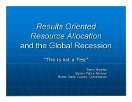 Results Oriented Resource Allocation and the Global Recession