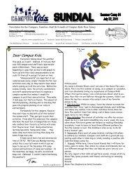 Summer Issue #4 -- July 22, 2011 - Campus Kids
