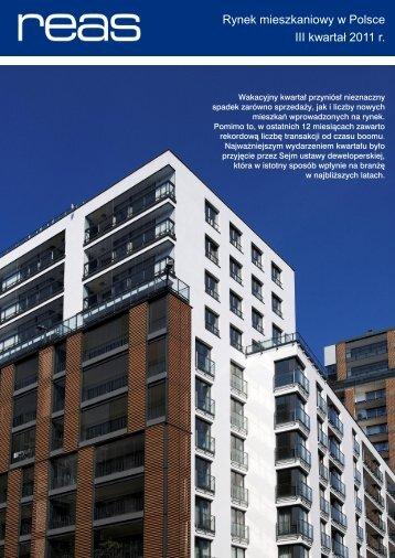 Rynek mieszkaniowy w Polsce III kwartał 2011 r.