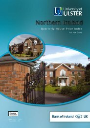 Quarterly House Price Index - University of Ulster