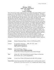 Course Outline - Classes at U. of L.