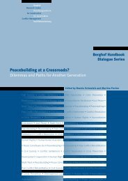 Peacebuilding at a Crossroads? - Berghof Handbook for Conflict ...