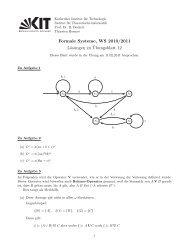Formale Systeme, WS 2010/2011 Lösungen zu ¨Ubungsblatt 12
