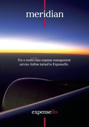 For a world class expense management service Airbus turned to ...