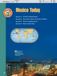 Chapter 7: Mexico Today - Nexuslearning.net