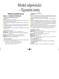 Model odpowiedzi – Egzamin ustny - Gazeta.pl