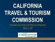 Cal ARVC Education Forum - the California Tourism Industry Website