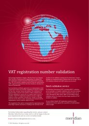 VAT registration number validation - Meridian Global Services