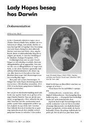 Lady Hopes besøg hos Darwin - Skabelse.dk
