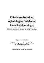 Erfaringsudveksling, vejledning og rådgivning i handicapforeninger