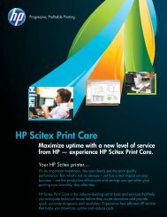 HP Scitex Print Care