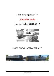 Strategisk IKT-plan Kastellet 2009-2012 versjon 1.1 - Kastellet skole